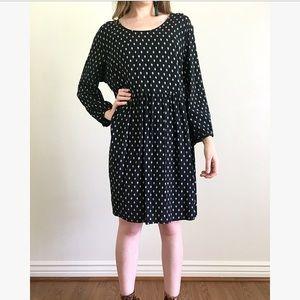 Old Navy Black Patterned Dress